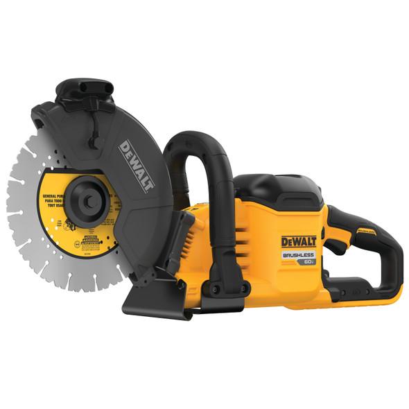 "Dewalt 60V Brushless 9"" Cut-Off Saw Kit Tool Only Angle 1"