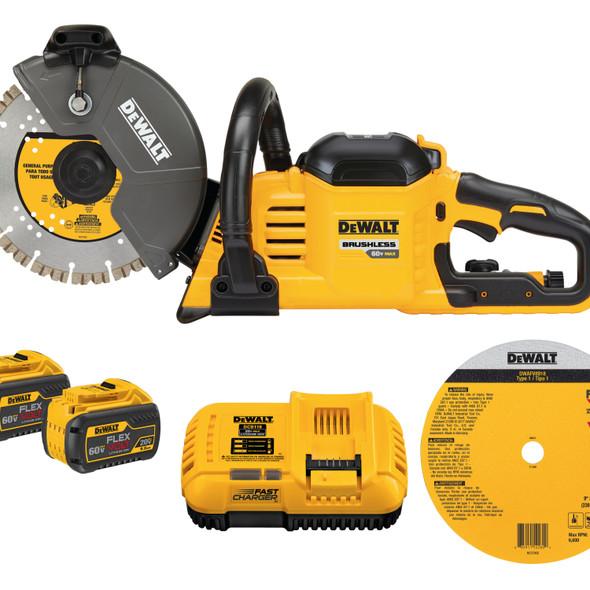 """Dewalt 60V Brushless 9"""" Cut-Off Saw Kit"""