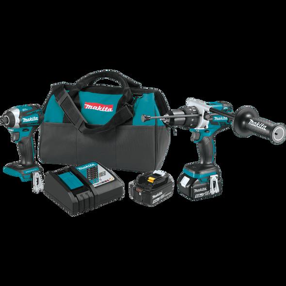 Makita 18V LXT® Lithium‑Ion Brushless Cordless 2‑Pc. Combo Kit (5.0Ah)