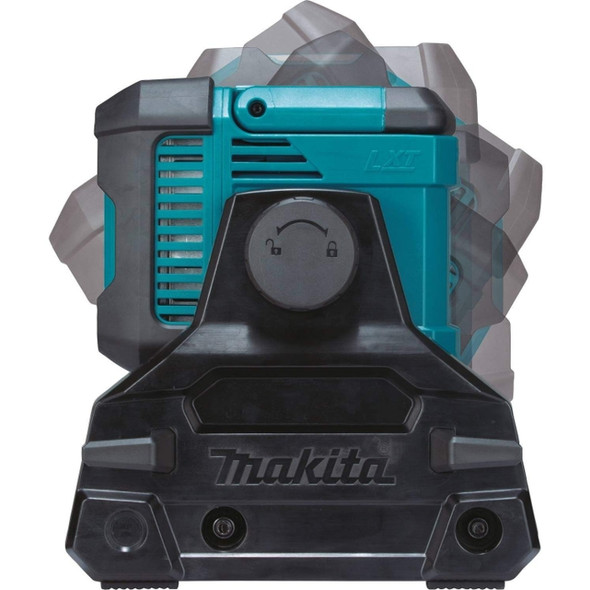 Makita 18V LXT® Lithium‑Ion Cordless/Corded Work Light, Light Only Side View