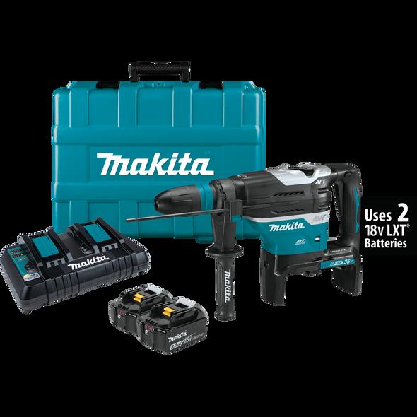 """Makita 36V (18V X2) LXT Brushless 1‑9/16"""" Rotary Hammer Kit 5.0AH"""