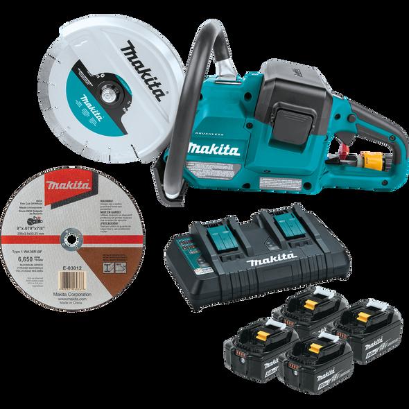 """Makita 36V (18V X2) LXT® Brushless 9"""" Power Cutter Kit"""