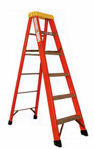 Sunset Ladder Type 1A Fiberglass Step Ladder - 300 lb Rating - 6'