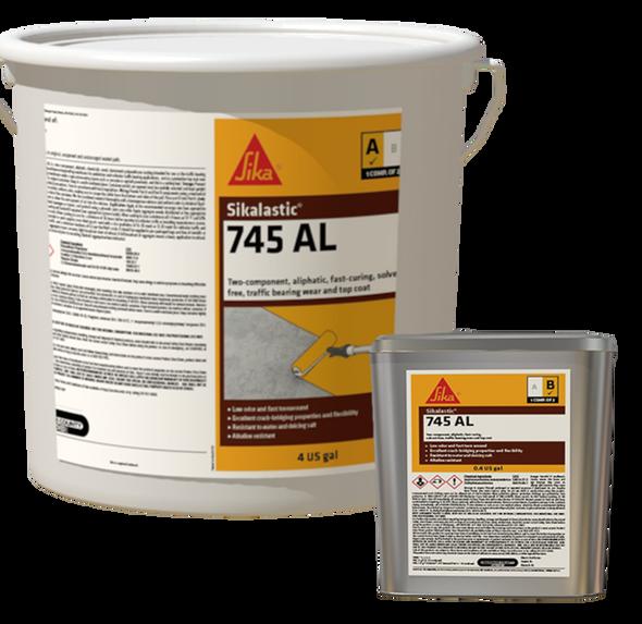Sika Sikalastic 745 AL - Solvent Free Aliphatic 2C Topcoat - Gray - 17.6 Gallon Kit