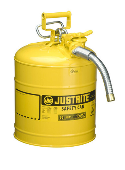 Type II AccuFlow™ Steel Safety Can - 5 Gallon YELLOW DIESEL