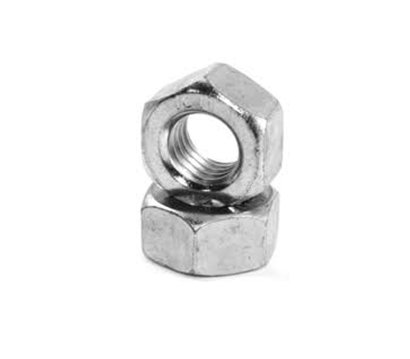 Zinc Plated Course Hex Nut - 100 Pack