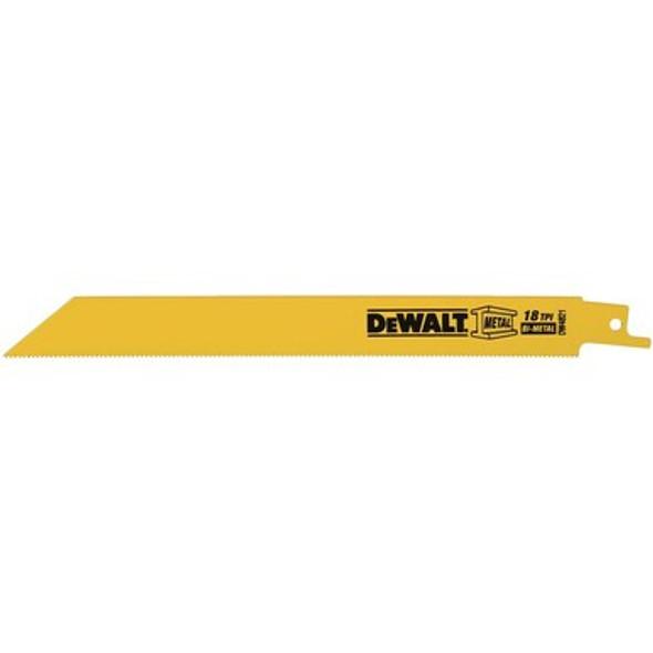 """Dewalt Metal Cutting Reciprocating Saw Blades 8"""" x 18 TPI"""