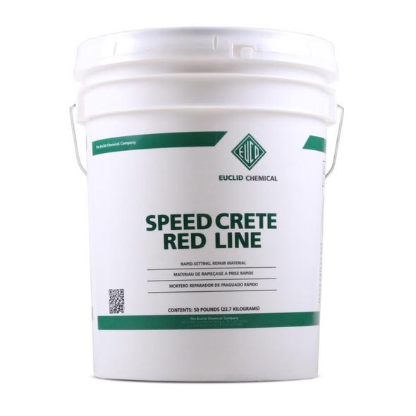 Euclid Speed Crete Red Line - 50 lb Pail