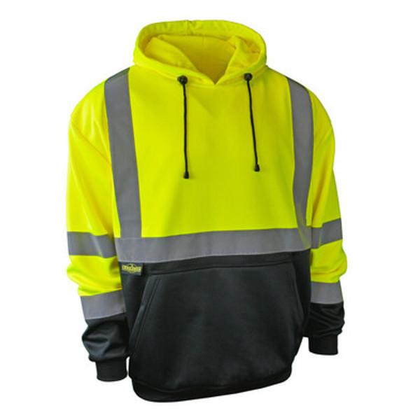 SJ02B-3 Class 3 Color Blocked Hooded Pullover Sweatshirt - Front