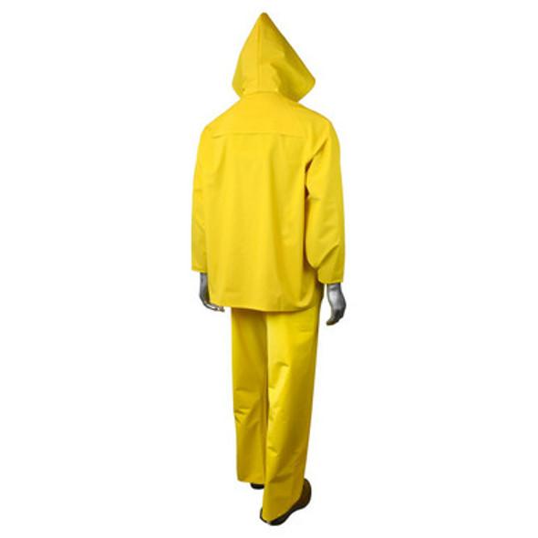 ERW™ 35 Economy Rainsuit - Yellow - Back - Hood Up