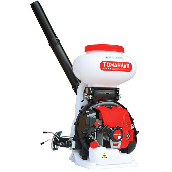 TOMAHAWK 4 Gallon Backpack Motorized Spreader for Granular Fertilizer, Seed, Feed, Salt Ice