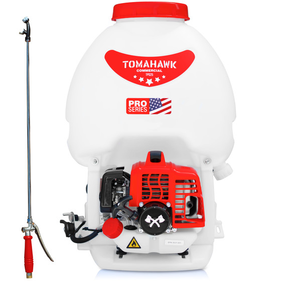 TOMAHAWK 5 Gallon Gas Power Pest Control Backpack Pesticide Fertilizer Sprayer for Mosquitoes and Ticks