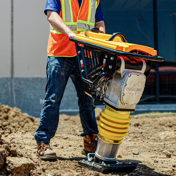TOMAHAWK 3.6 HP Honda Vibratory Rammer Jumping Jack Tamper with Honda GX120R Engine Compaction Force 3550 lbs. per square ft
