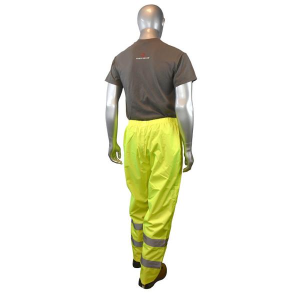 RW10-ES1Y Lightweight Rain Pants - Hi Viz Green