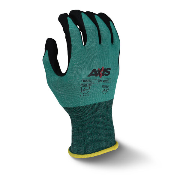 RWG533 AXIS™ Cut Protection Level A2 Foam Nitrile Coated Glove - Top
