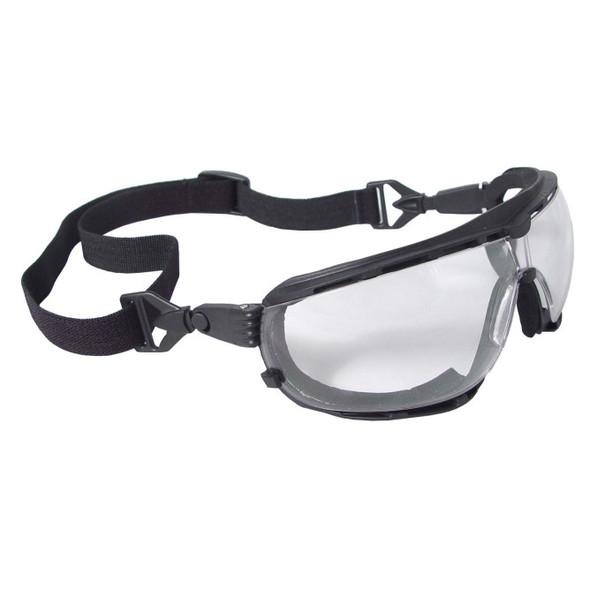 Dagger™ Foam Lined Safety Goggle - Black Frame - Clear Anti-Fog Lens