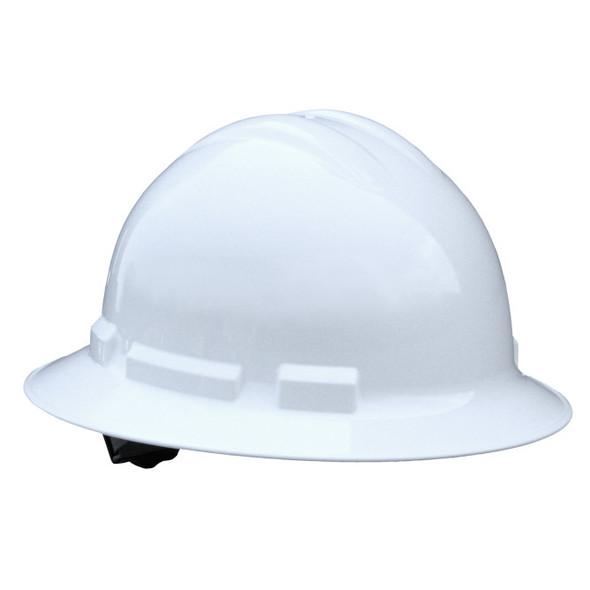 Quartz™ Full Brim 6 Point Ratchet Hard Hat - White