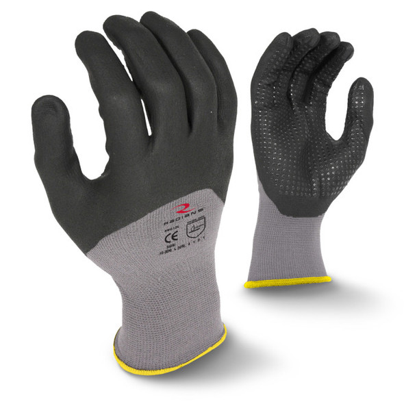 RWG12 3/4 Foam Dipped Dotted Nitrile Glove - Size L