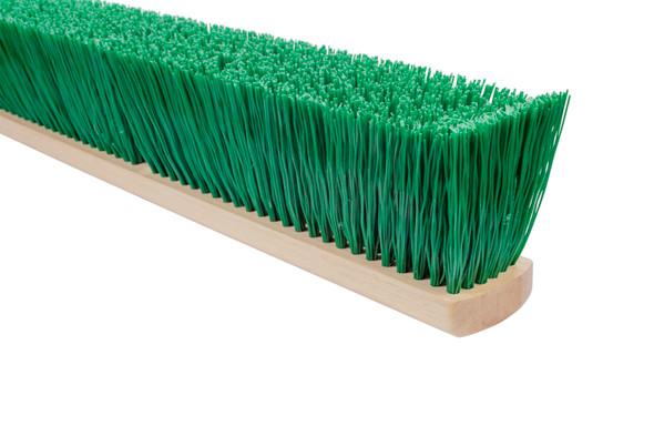 Stiff Green Polypropylene Garage Brush