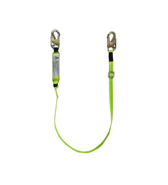 Adjustable High Profile Energy Absorbing Lanyard w/ Snap Hooks