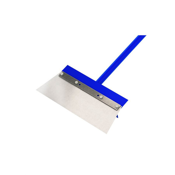 "Floor Scraper - 14"" Steel Angle Cut Blade - 5' Steel Handle - Close Up"