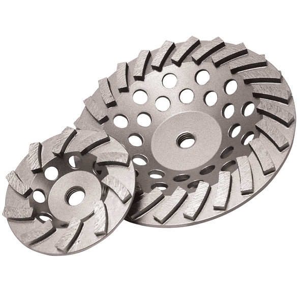 """Diamond Products 7"""" x 5/8-11"""" Delux-Cut Spiral Turbo Cup Grinder"""