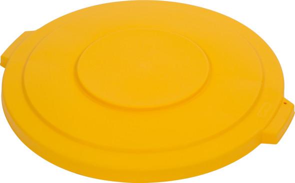 Round Waste Bin Trash Container Lid - Yellow