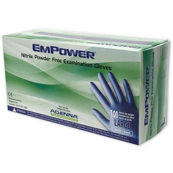 EMPOWER® Nitrile Powder Free Exam Gloves - Large