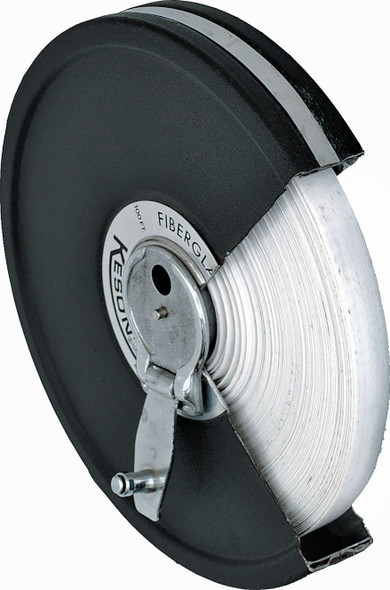 Fiberglass Tape Measure, Metal Case - 100'/30m