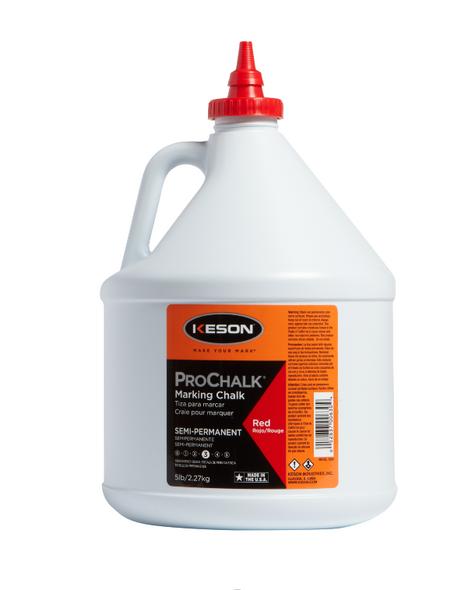 PROCHALK® Semi Permanent Waterproof Marking Chalk #3 - 5 lb RED