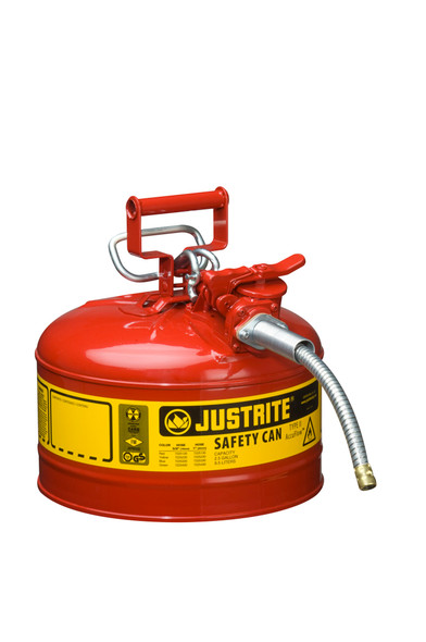 Type II AccuFlow™ Steel Safety Can - 2.5 Gallon, Red