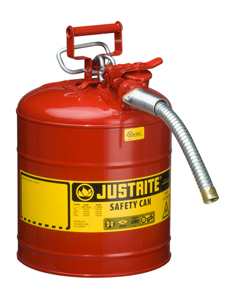 Type II AccuFlow™ Steel Safety Can - 5 Gallon RED/GAS