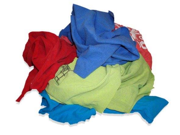 Bag of Multicolored T-Shirt Rags - 25 lb