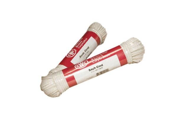 """Glazed Sash Cord - #8, 1/4"""" X 100' White"""