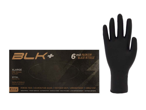 Elite Black +® Nitrile Gloves