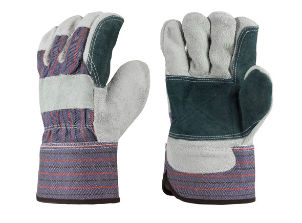 Double Leather Palm Gloves - Dozen