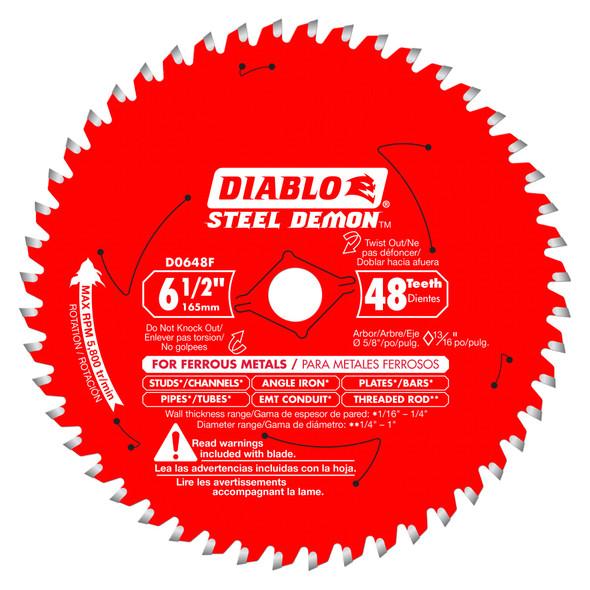 "Diablo 48-Tooth Circular Saw Blade for Metal 6-1/2"""