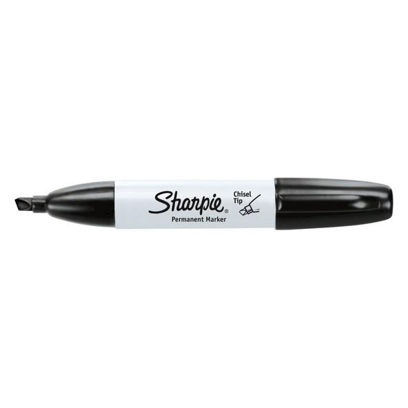 Sharpie Black Chisel Point Permanent Marker - 2 Pack