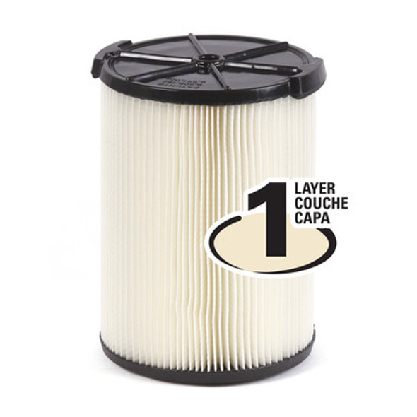 Wet/Dry Vacuum Dust Filter - 6 to 16 Gallon