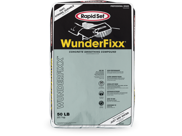 WunderFixx® Concrete Smoothing and Patching Compound - 50 lb