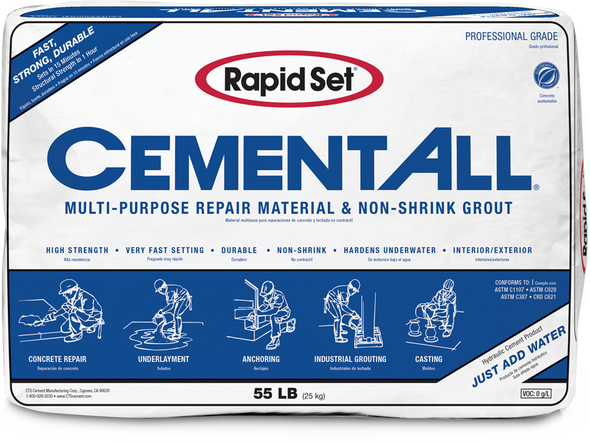Cement All® Multi-Purpose Construction Material & Non-Shrink Grout - 55 lb