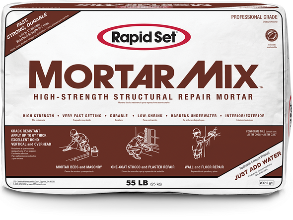 Mortar Mix High-Strength Structural Repair Mortar - 55 lb