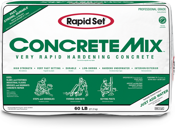 Concrete Mix Very Rapid Hardening Concrete - 60 lb