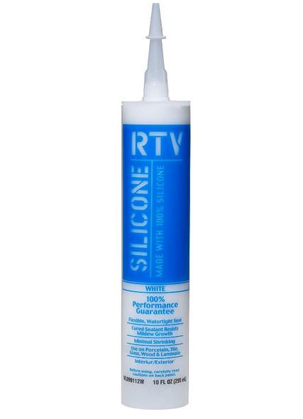 White Lightning RTV Silicone Sealant, White - 10 oz