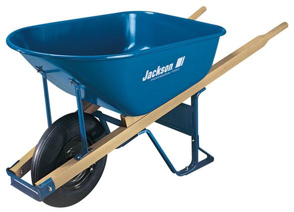 Jackson® Steel Contractor Wheelbarrow with Flat Free Tire - 6 cu. ft.