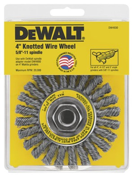 """4"""" Knotted Wire Brush"""