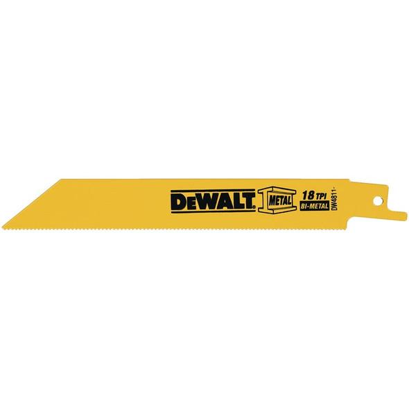 """Dewalt Metal Cutting Reciprocating Saw Blades 6"""" x 18 TPI"""
