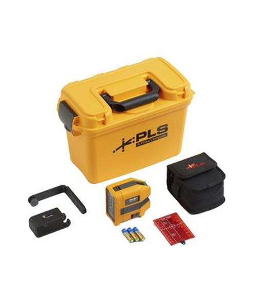 Red Three-Point Laser Level Kit - PLS 3R