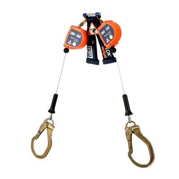 Nano-Lok™ Edge Twin-Leg Quick Connect Self Retracting Lifeline, Cable