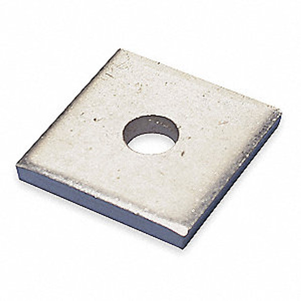 """1-5/8"""" x 1-5/8"""" Square Channel Washer, 1/4"""" Hole"""
